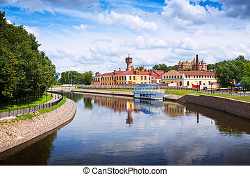 historical district of Ivanovo in summer. Russia
