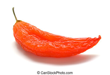 Red pepper 2 - Red pepper on a white background Isolation,...