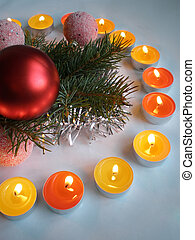Christmas ornament with romantic candle light decoration