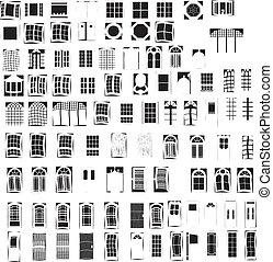 Windows & Doors - 92 Vectors Windows & Doors