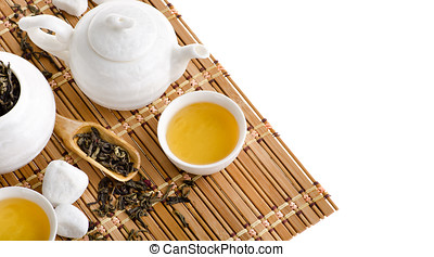 China tea on isolated white background