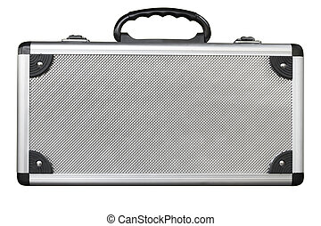 Aluminum bag - Old aluminum bag on white background