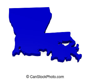 3d map of Louisiana