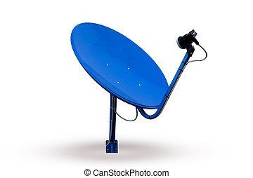 Satellite dish - Satellite TV receiver. Modern home...
