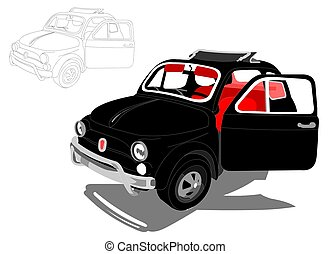 Italian Car - A useful illustration about a small fashioable...