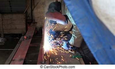 welder background - A worker to weld