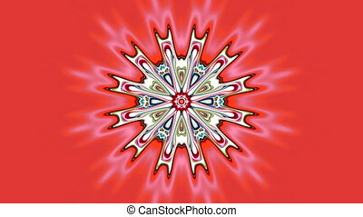 Changing flower - The beautiful pattern in the form of a...
