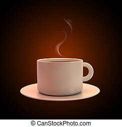Cup of Coffee - 3D Illustration of Cup of Coffee Detailed...
