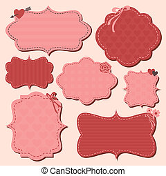 Valentine's Day Labels Set