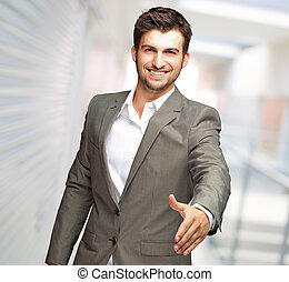 Portrait Of Young Man - Portrait Of Young Businessman In A...
