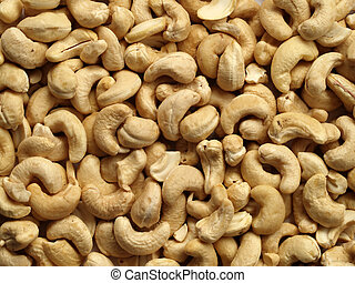 Cashew nuts - Layer of cashew nuts