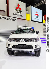 BANGKOK-DEC 03: Mitsubishi Pajero on Display at Thailand...