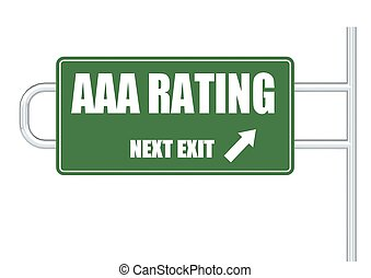 AAA rating - Rendered artwork with white background