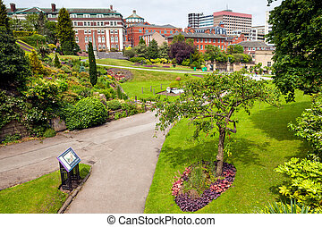 Spring park in Nottingham