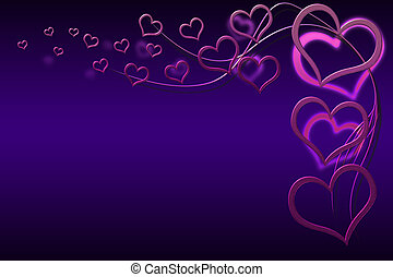Valentines Day Card - Valentines day background for your...
