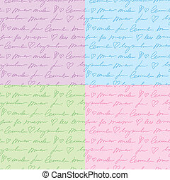 patterns with hand writing elements