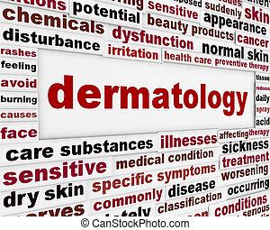 dermatología, salud, cuidado, médico