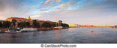 Panoramic view of Neva river
