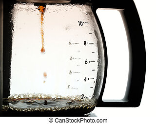 Coffee jug - Coffee dripping into jug from coffee percolator