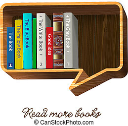 Bookshelf in the form of speech bubble - Bookshelf form of...