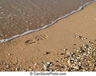 Footpint in the sand