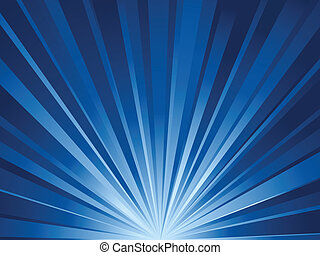 blue rays background - Simple blue rays background Vector...