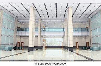 3d futuristic corridor, hall - futuristic corridor modern...