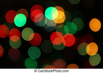 Color unfocused lights - Holiday background from color...