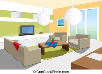 Wohnzimmer clipart und stock illustrationen for Wohnzimmer clipart