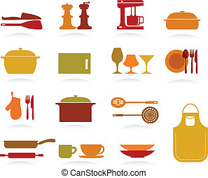 Cute Kitchen Collection, vector illustration