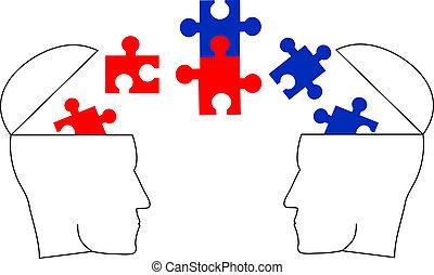 Brain puzzle - Creative design of brain puzzle