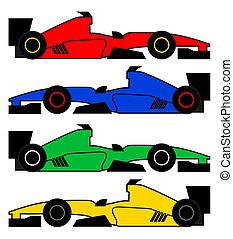 Color racing car - Creative design of color racing car