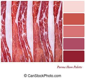 Parma ham palette
