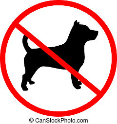 No dog - Creative design of no dog