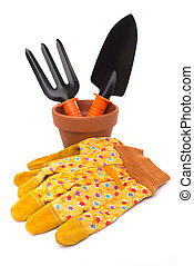 Gardening tools and accessories - Gardening: group of tools...