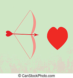 Vector of bow and heart