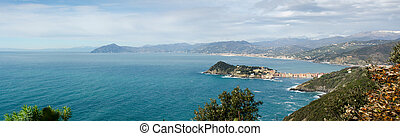 overview of Sestri Levante - overview of the promontory of...