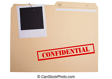 "Confidential Folder - A folder labeled ""CONFIDENTIAL"" with a..."