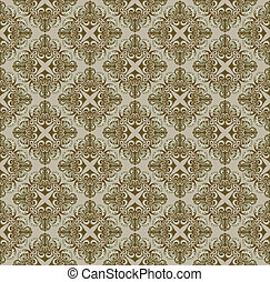 Brown Gothic pattern