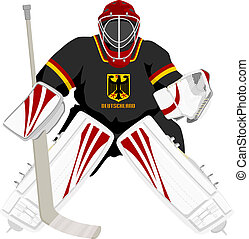 Team Germany hockey goalie, isolated vector illustrations