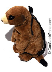 Stuffed Animal Backpack - Isolated close up view of a...
