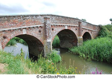 Bodiam bridge, England - The historic road bridge crossing...