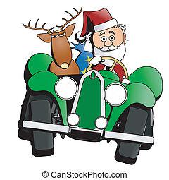 汽車, 聖誕節, 聖誕老人