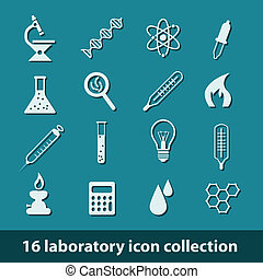 laboratory icons - 16 laboratory icon collection