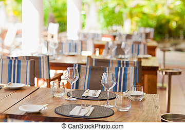 table setting - closeup of table setting in casual...