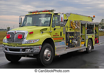 Common fire truck - Yellow fire and rescue truck