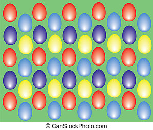 eastern eggs background colored