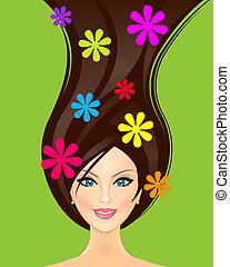 Vector illustration of summer girl
