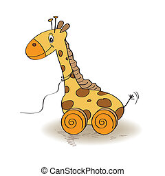 Cute Giraffe Toy , vector illustration