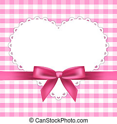 Vector pink frame with heart